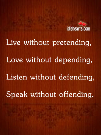 live-without-pretending