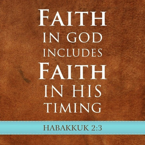 faith in god, faith in timing