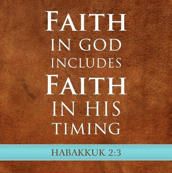 faith in god, faith in timing