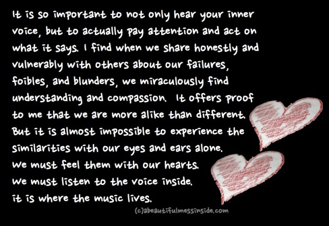 listen to your inner voice