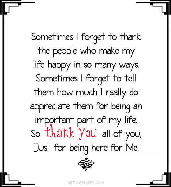 thank-you for being there