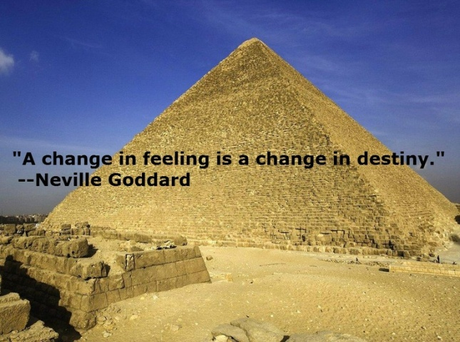 a change of feeling, a change of destiny
