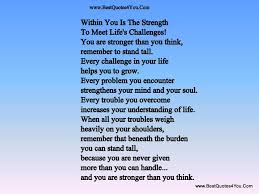 within you is strength