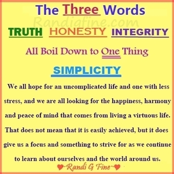 truth, honesty, integrity